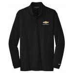 NIKE L/S Dri-Fit Polo Black w/GBT Chevrolet