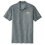 Chevrolet NIKE Golf Dri-Fit Crosshatch Polo. Cool Grey/ Anthracite.