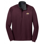 Maroon 1/4 Zip Soft Cotton Chevrolet Pullover Jacket