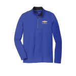 NIKE Stretch 1/2 Zip Cover Up Deep Royal/Black