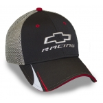 Blk Perf Fabric/ Grey Mesh Cap w/ Red Trim Open BT Racing