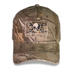 Camo Hat w/ Frayed Bill Mr. Crosswrench Patch